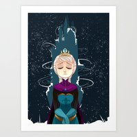 elsa Art Prints featuring Elsa by elixiroverdose