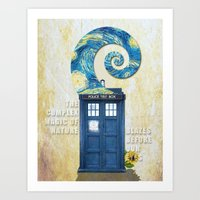 tardis Art Prints featuring TARDIS by Cloysterbell