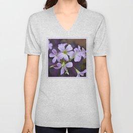 Flower | Flowers | Lavender Petals v2 Unisex V-Neck