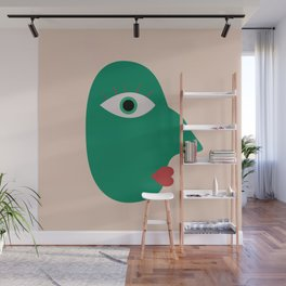 Cubism Face Wall Mural