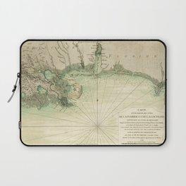 Map of Louisiana and Florida Gulf Coast (1778) Laptop Sleeve