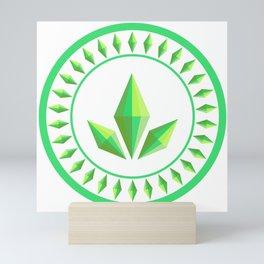 The Sims Plumbob Emblem Mini Art Print