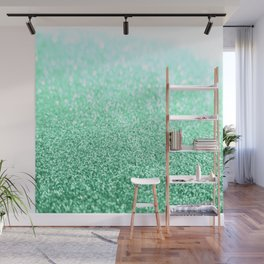 seafoam green glitter Wall Mural