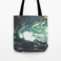 trout Tote Bags featuring Yinzer Trout by Mt Zion Press