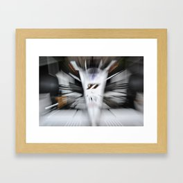 Formula Zoom (original) Framed Art Print