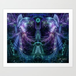 Dawn is Late - Fractal Manipulation Art Print