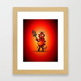 Fat red devil Framed Art Print