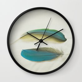 Two Feathers Wall Clock