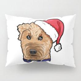 Irish Soft Coated Wheaten Terrier Dog Christmas Hat Pillow Sham