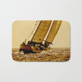 two sailboat in race Bath Mat