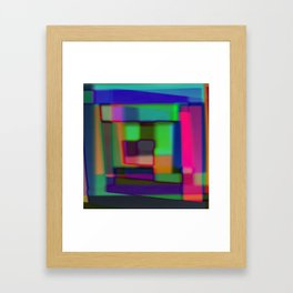 Colored blured background Framed Art Print
