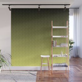 Yellow Olive Black Ombre Scales Wall Mural