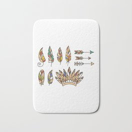 Tribe Hat and Arrow American Indian Heritage Day Bath Mat