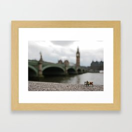London homeless. Framed Art Print