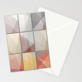 Abstract triangle art Stationery Cards