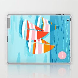 Popin - memphis sports retro throwback neon sailing sailboat cool rad gnarly trendy watersports Laptop & iPad Skin