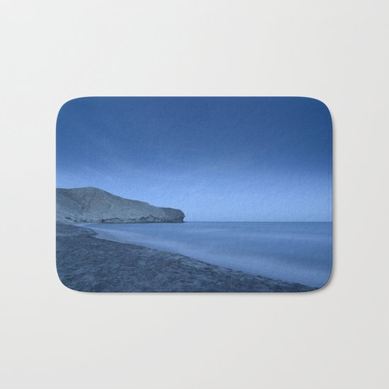 """""""Blue Hour At Half Moon Beach"""" Bath Mat"""