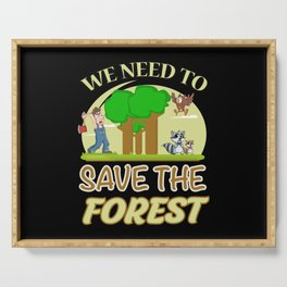 Climate Change Earth CO2 Future Planet Gift Idea Serving Tray