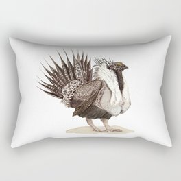 Greater Sage-Grouse Rectangular Pillow
