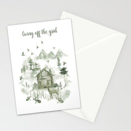 Living Off The Grid Stationery Cards