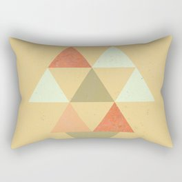 Being Mindful, Geometric Triangles Rectangular Pillow