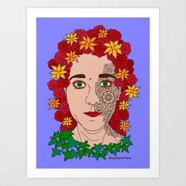 Half incorporated Art Print