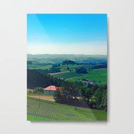Spring scenery with hazy horizon Metal Print
