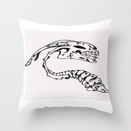 Skeleton of the beast Throw Pillow