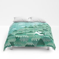 Comforters featuring Tree Hugger (Spring & Summer version) by littleclyde
