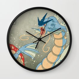 The Great Red Wave II Wall Clock