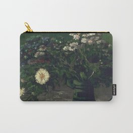 Vincent Van Gogh - Still Life with a Bouquet of Daisies Carry-All Pouch