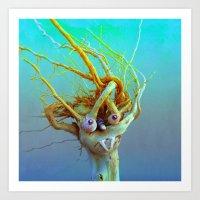 medusa Art Prints featuring Medusa by aeolia