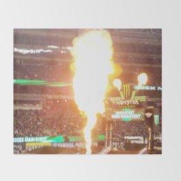 MX Supercross Explosive Fire Throw Blanket