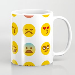 Cute Set of Emojis Coffee Mug