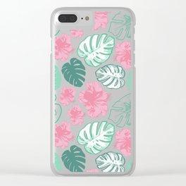 Beautiful Tropical Print Clear iPhone Case