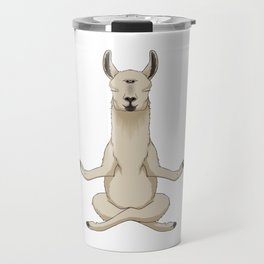 Meditation Llama with Third Eye Travel Mug