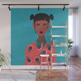 Hairbuns & PrintShirts Wall Mural