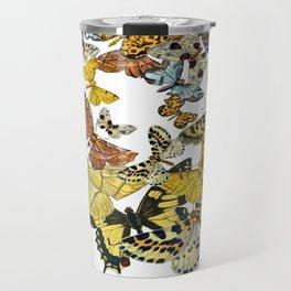 A Kaleidoscope Of Vintage Butterflies Vector Travel Mug