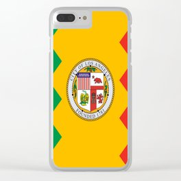 American cities-  Flag of  los angeles Clear iPhone Case
