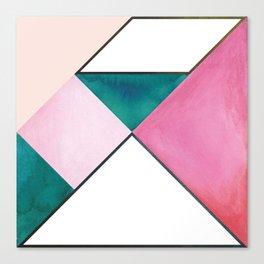 Tangram Square One Canvas Print