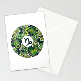 Capricorn in Petrykivka (without artist's signature/date) Stationery Cards