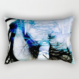 Winter Bridge Rectangular Pillow