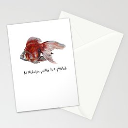 As Lacking In Privacy As A Goldfish Stationery Cards