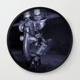 Old Microscope Wall Clock