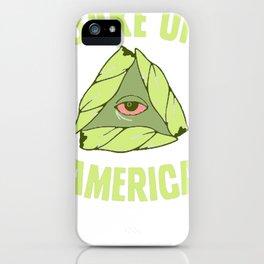 BAKE UP AMERICA T-SHIRT iPhone Case
