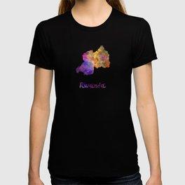 Rwanda in watercolor T-shirt