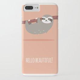 Sloth card - hello beautiful iPhone Case