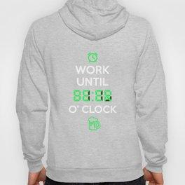 Work Until Beer O Clock T-Shirt Faux Neon Digital Clock Hoody