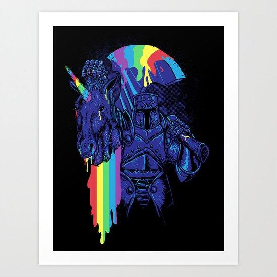 Rainbow harvest (so intense) Art Print