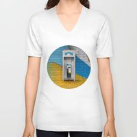 telephone V-neck T-shirts featuring Telephone by RMK Photography
